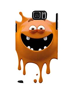 Printvisa brown monster cartoon character Back Case Cover for Samsung Galaxy Note 5 N920