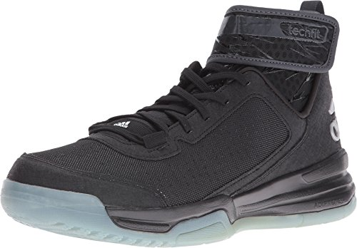 Adidas Mens Dual Threat BB Basketball Shoes (9, Black/White/Frozen Blue)