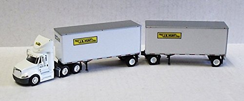 JB HUNT DCS INTERNATIONAL PROSTAR DOUBLE TRAILER TONKIN 1/87 Diecast Truck HO Scale (Tonkin Trailers compare prices)