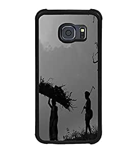 Fuson Premium 2D Back Case Cover Common man With Multi Background Degined For Samsung Galaxy S6::Samsung Galaxy S6 G920