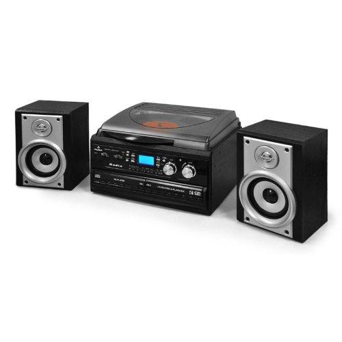 shopi shop auna chaine stereo hifi complete avec double cd enregistreur cassettes et platine