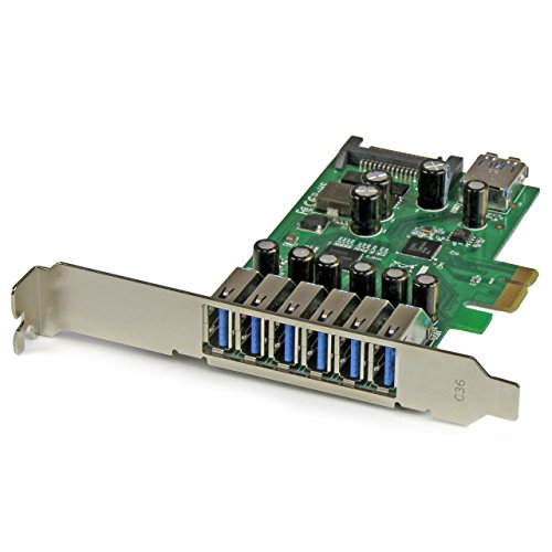 StarTech.com 7 Port PCI Express USB 3.0 Card Standard And Low-Profile Ports PEXUSB3S7