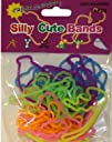 A Pack of 24 Silly Cute Bands Cheerleader Shaped Rubber Bands