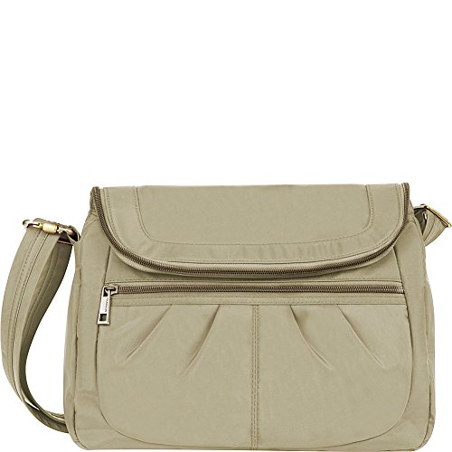 Travelon Anti-Theft Signature Flap Compartment Cross Body Bag