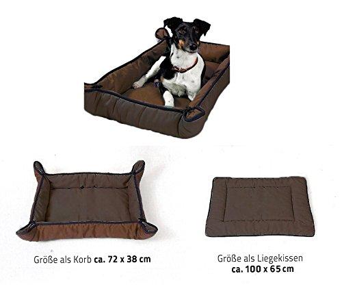2-in-1-Hundekorb-Hundekissen-Decke-vers-Farben-BraunDunkel-Braun