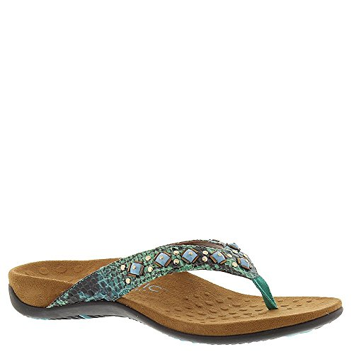 Vionic Floriana Womens Thong Sandals Teal Snake