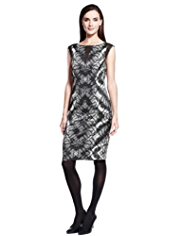 Autograph Abstract Print Bodycon Dress