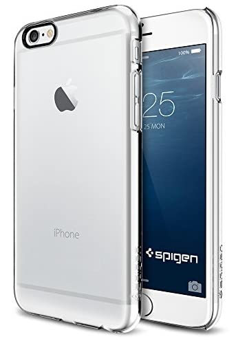 iPhone 6 ケース, Spigen®  [滑り防止加工] Apple iPhone 4.7 (2014) シン ・フィット The New iPhone アイフォン6 (国内正規品) (クリスタル・クリア 【SGP10939】)