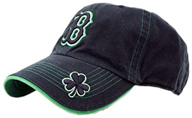 Boston Red Sox Logo Merchandise St Patty Fatty Black Adjustable Cap