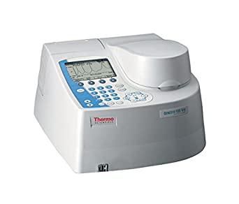 Thermo Scientific 840-207900 Genesys 10S Series Visible Spectrophotometer, 325 to 1100nm Wavelength Range, 5.0nm Bandwidth, Tungsten-Halogen Lamp, 100/240VAC