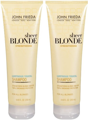 John Frieda Sheer Blonde Lustrous Touch Strengthening Shampoo - 8.45 oz - 2 pk