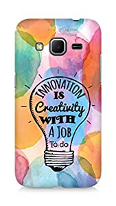 Amez Innovation is Creativity with a Job to do Back Cover For Samsung Galaxy Core Prime