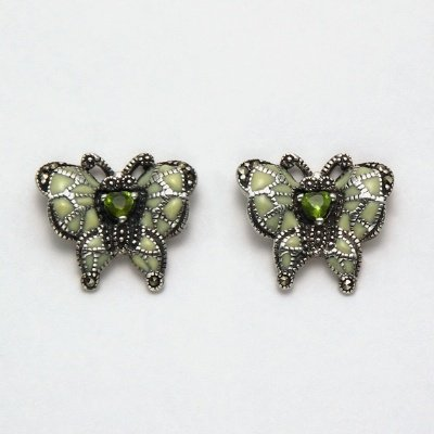 Marcasite with Peridot Earrings