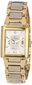 Le Chateau Women's 1816LCLTT_WHTandBEIGE Diamond Accented Two-Tone Watch