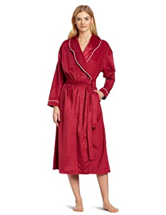 Eileen West Women's The Empress Robe, Solid Plum Berry, Large/X-Large