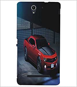 PRINTSWAG RED CAR Designer Back Cover Case for SONY XPERIA C3