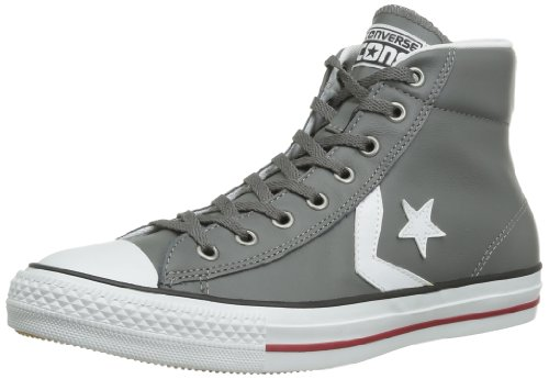 CONVERSE Unisex-Adult Star Player Ev Leather Mid Trainers 060590-520-122 Anthracite 4.5 UK, 37 EU