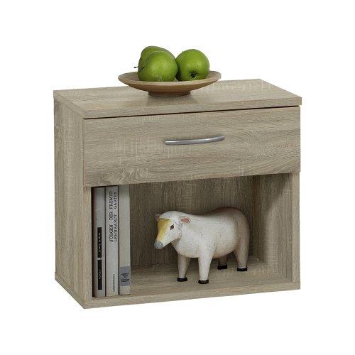 FMD Bedside Cabinet Jonny, 42.0 x 37.5 x 30.0 cm, Oak