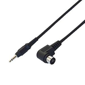 富士パーツ アンテナケーブル変換 3.5φ ミニプラグ変換ケーブル F型と3.5φ ミニプラグ 3m FP363