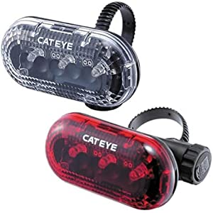 Cateye LD130 Front and Rear Light Set by CATEYE