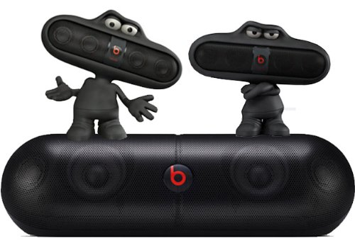 Beats By Dr. Dre Pill Xl Portable Speaker System Bundle With 2 Beats Pill Portable Speakers And 2 Beats Pill Character Stands (Black)