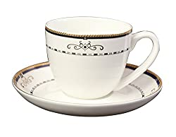 Aspirationz Cup & Saucer Set (6 Cups-6 Saucers) (Fine Bone China)