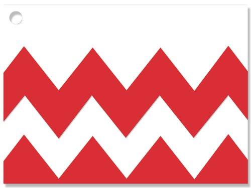 [해외]붉은 쉐브론 스트라이프 테마 기프트 카드 3-3 4x2-3 4 (30 단위, 6 팩 / 단위)/Red Chevron Stripe Theme Gift Cards3-3 4x2-3 4  (30 unit, 6 pack per