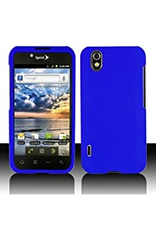 buy Lg P970 Optimus Black / Ls855 Marquee Rubberized Shield Hard Case - Blue (Package Include A Handhelditems Sketch Stylus Pen)