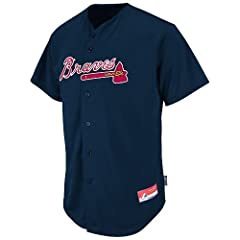Atlanta Braves Full-Button CUSTOM or BLANK BACK Major League Baseball Cool-Base... by Majestic Authentic Sports Shop
