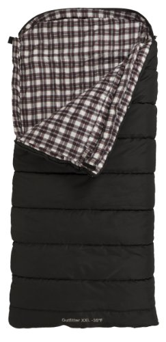 TETON Sports Outfitter XXL -35 Degree F Cotton Lined Sleeping Bag (92″x 39″, Black, Right Zip)