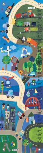 Oopsy Daisy Growth Charts on Our Way by Jill McDonald, 12 by 42-Inch
