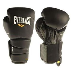 Buy Everlast Elite Leather Protex3 Bag Gloves with Carry Bag - 16 oz - Black by Everlast