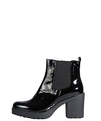 Vagabond Grace Black Boots - Stivaletti Neri Verniciati