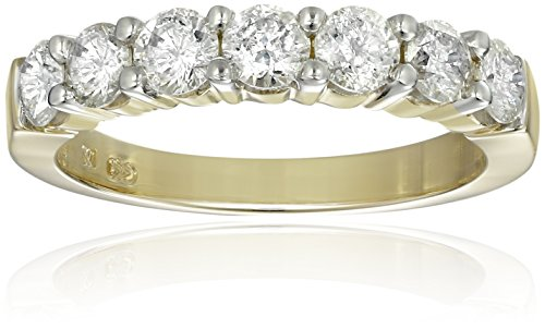 14k Yellow Gold 7-Stone Diamond Ring (1 cttw, H-I Color, I1-I2 Clarity), Size 7