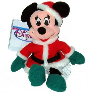 Minnie Santa 1997 - Disney Mini Bean Bag Plush