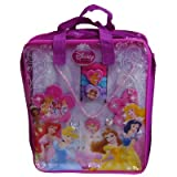 Disney Princess 20 Piece Hair Accessory & Jewelry Set in PVC Bag Includes Necklace, rings, earrings, comb, mirror, hair ties & more...