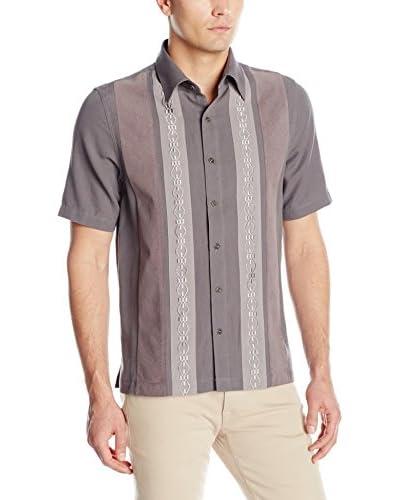 Nat Nast Men's Arbus Embroidered Bib Shirt