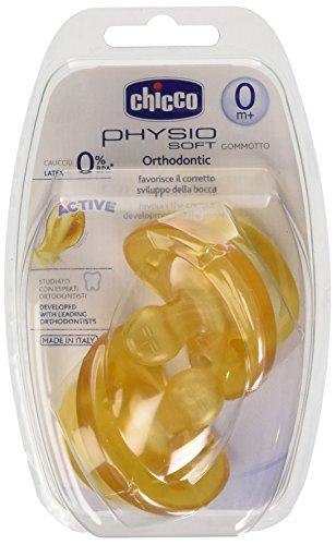 Chicco 670140 - Gommotto Physio Soft 0 mesi+, 2 pezzi, caucciù