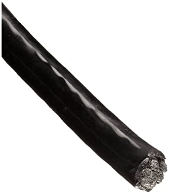 Loos Stainless Steel 302/304 Wire Rope, Nylon Coated, 7x7 Strand Core, Black