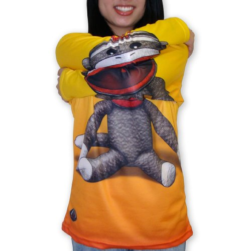MouthMan® Unisex-Adult Sock Monkey Hoodie Shirt