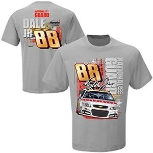 Dale Earnhardt Jr #88 NASCAR Adult- National Guard Restart T-Shirt - Gray by NASCAR