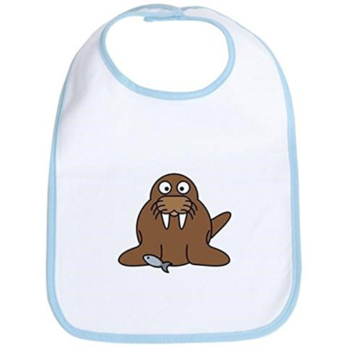 Buangbo Cartoon Walrus Bib - Baby Soft Bib with Rope Spray-bonded Cotton Both for Boy and Girl