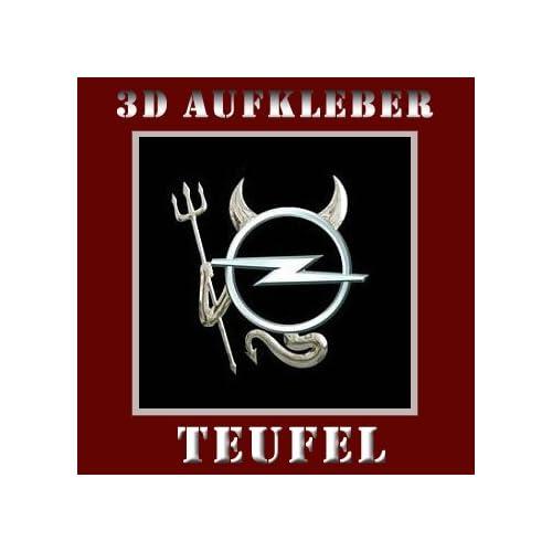 10 St Ck 3d Chrom Auto Devil Aufkleber Teufel Emblem Opel