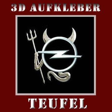3D Chrom Auto DEVIL Aufkleber TEUFEL Emblem FIAT * ROVER * ALFA ROMEO * SAAB * OPEL