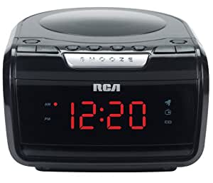 rca rp5605r am fm cd clock radio with large led display discontinued by. Black Bedroom Furniture Sets. Home Design Ideas