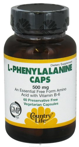 Country Life L-Phenylalanine Caps, 500 Mg With B-6, Tablets, 60-Count
