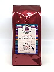 Sumatra Mandheling Harimau Tiger Specialty Dark Roast: 12 oz, Whole Bean, Single Origin, NON-GMO, 100% Arabica Coffee from the Chapín Coffee Gourmet Collection