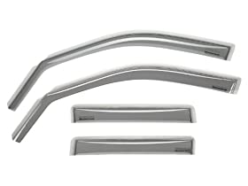 WeatherTech Custom Fit Front & Rear Side Window Deflectors for Toyota Tacoma Double Cab, Light Smoke