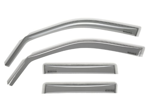 WeatherTech Custom Fit Front & Rear Side Window Deflectors for Ford Focus Sedan ZTS/ZX4, Light Smoke