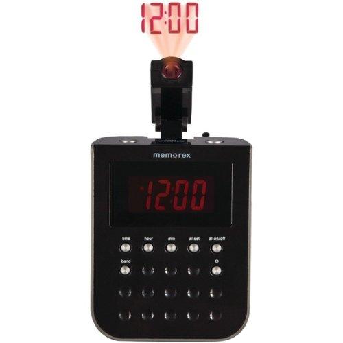 memorex large digital led projection alarm clock radio am fm see time on ceiling ebay. Black Bedroom Furniture Sets. Home Design Ideas